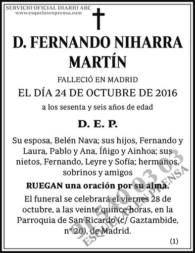 Fernando Niharra Martín